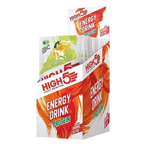 High5 High5 Bebida Energética Con Mezcla De Proteínas Carbohidratos Y Electrolitos - Cítricos - 12 Bolsitas Energéticas De 47 Gramos 640 g