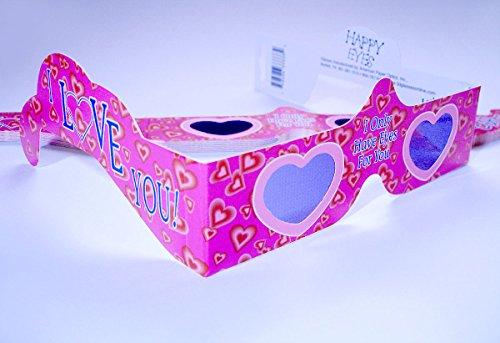 10 Stück HoloSpex 3D Brille Hearts, Herzen, Herzchenbrille, I Love You (Happy Eyes) - Herzchen entstehen Mitten im Raum