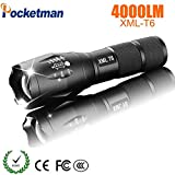 Type A : LED Rechargeable Flashlight CREE XML T6 linterna Torch 4000 lumens
