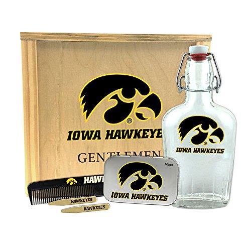 """NCAA Herren NCAA Gentlemen 's Geschenk Box 1-250ml Glas Schwingdeckel Flasche, 2-Messing Kragenstäbchen, 1-Große mint Dose, 1-Kamm, herren, Toiletry Edition, hautfarben, 10"""" x 9"""" x 3.75"""""""