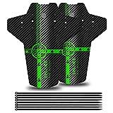 YOLOKE Parafango MTB,Compatibile Anteriore o Posteriore Parafanghi Bici MTB 26', 27,5', 29' paraspruzzi Mountain Bike (Verde)