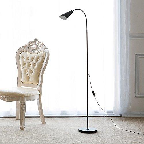 Lampada da terra moderna nordica lampada da terra a led bicolore interfaccia usb lampada da lettura ad effetto per lo studio della camera da letto ( color : black )