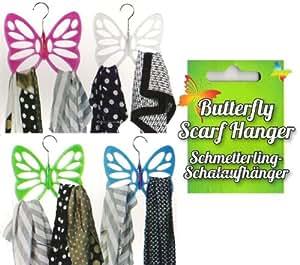 Schalhalter Schmetterling 4 Farben Schalaufhänger Schalhänger Schalbügel Tücherhalter