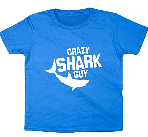hippowarehouse-crazy-shark-guy-kids-short-sleeve-t-shirt