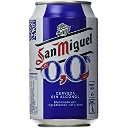 San Miguel 0,0 - Cerveza sin Alcohol - 330 ml