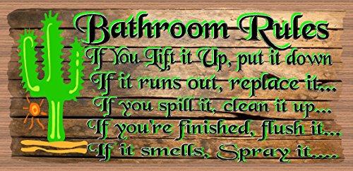 Cuarto de baño reglas de baño-placa-Western decoración