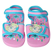Disney® Official Frozen Children Kids Girls Velcro Walking Sandals Indoor Outdoor Beach & Pool Slippers Shoes