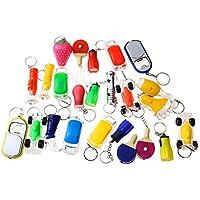 Beyond Dreams Lot de 13 Mini Lampes de poches | LED Porte-clés pour enfants et adultes | Mini Lampe avec lumière clignotante | Lumineux | Multicolore | Différents modèles | Lampes de poches avec anneau porte-clés | Ensemble de porte de clés | Keychain | Porte-clés pour sac-cadeaux | petits cadeaux anniversaire enfant | adapté pour les garçons et les filles | Cadeaux invités | Price cadeau | Giveaway jouet | |