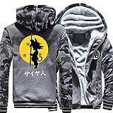 Cosstars Dragon Ball Anime Hoodie Sudadera con Capucha Cosplay Disfraz Invierno Espesar Sweatshirt Abrigo Chaqueta 3 M