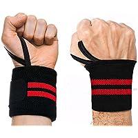 2PCs Muñequeras Deportivas Elásticas Wrist Wraps Para Musculación Gimnasio Weightlifting Kettlebells 19 '' x 3.2 ''(48.5 x 8 cm)