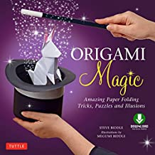 Origami Magic Ebook: Amazing Paper Folding Tricks, Puzzles and Illusions: Origami Book with 17 Projects and Downloadable Video Instructions (English Edition)