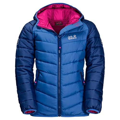 Jack Wolfskin Children's K Zenon Winter Windproof Quilted Jacket, sapphire, 140 (EU)