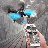 Mini-Drone-avec-Camra-HD-SHIRUI-H901HS-Pliable-Maintien-de-lAltitude-WiFi-FPV-Camra-720P-iPhoneAndroid-APP-Tlcommande-en-Temps-Rel-Vido-Nano-RC-Quadcopter-UFO-RTF-avec-Capteur-de-gravit-Retour-dune-cl