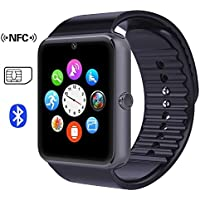 Time4Deals® GT08 Bluetooth Smart Watch Bracciale con slot per SIM Card e Smart NFC salute guardare per Smartphone Android e IOS Apple Iphone - Nero