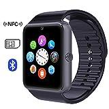 Smart Watches Best Deals - Time4Deals® GT08 Salud inteligentes NFC y Bluetooth Smart Watch pulsera con ranura para tarjeta SIM reloj Smartphone Android y IOS Apple Iphone - Negro