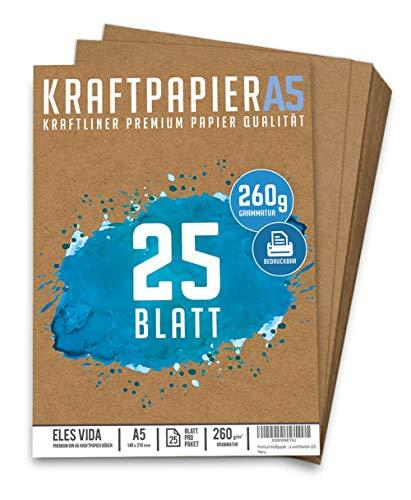 25 Blatt Kraftpapier A5 | 260g