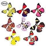 Baiwka Magic Flying Butterfly, 10Pcs Wind Up Butterfly Classic Fairy Flying Butterfly Toy, Jouets Amusants pour Enfants, Idéal pour Les Anniversaires De Mariage