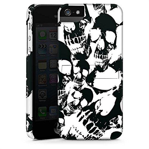 Apple iPhone X Silikon Hülle Case Schutzhülle Skull Schwarz-Weiß Gothic Premium Case StandUp