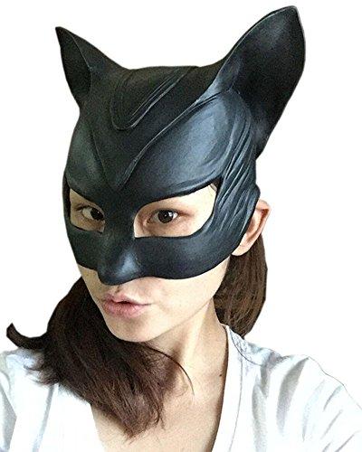 ealistische Kopfmaske Halloween Cosplay Partei-Kostüm-Abendkleid (Batgirl) (Maske Zu Verkaufen)