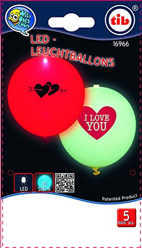 Happy People 16966 LED Luftballons, I love You, leuchtend, 5 Stück, SB-Btl