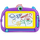 Peradix Lavagna Magnetica per Bambini - Tavola da Disegno Cancellabile Lavagnetta Magica- Giocattolo Educativo e Creativo a 4 Colori - Regalo per Bambini, Giocattoli Educativo, Portatile (Viola)