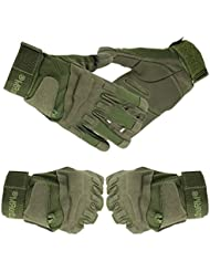 Tailcas® Tactical Militar Guantes Completa del Dedo Unisexo Full Finger Gloves para Deportes de Ciclismo y Montañismo Aptitud Fitness Airsoft Caza Entrenamiento (XL Ejército verde)