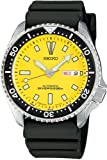 Mens Watch Seiko SKXA35 Dive Automatic 200m Diving Watch Yellow Dial Rubber Stra