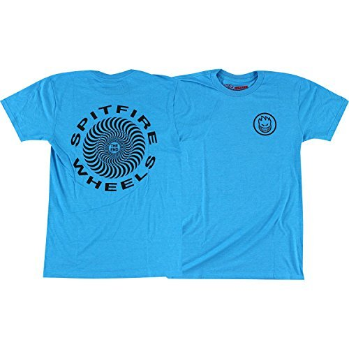 Spitfire Retro Classic T-Shirt - Size: MEDIUM Turquoise/Black by Spitfire