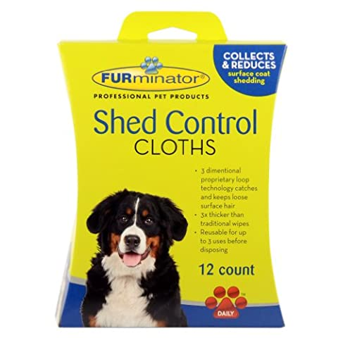 FURminator Dog Shed Control Cloths Convenient Removing Loose Surface Hair