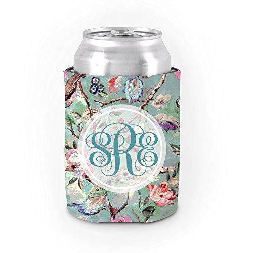 Personalisierte kann Kühler Koozies Art Floral Dickes Neopren Insulated Bier kann Coolie Sleeve, für Frauen Geburtstag Geschenke Party Favor