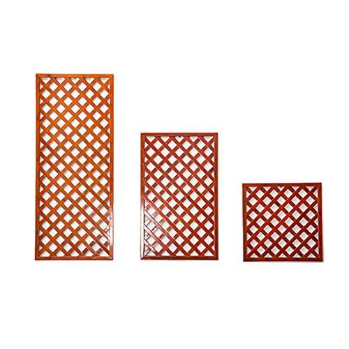 FZN Cadre de Bambou de Tenture Murale de Salon, Cadre en Bambou Multifonctionnel de Cadre de décoration de Support de Fleur en Bambou intérieur et extérieur Pots de Fleurs (Couleur : Orange)