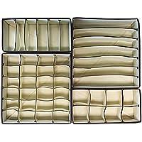 Fablcrew Underwear Storage box pieghevole armadio organizzatori reggiseno biancheria intima cassetto divisori 4pcs
