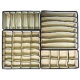 Kitchen & Housewares : Fablcrew Underwear Storage Box Collapsible Closet Organisers Bra Underwear Drawer Dividers 4PCS