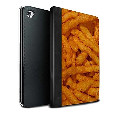 STUFF4 PU-Leder Hülle/Case/Brieftasche für Apple iPad Mini 4 tablet / Nick Nacks Muster / Imbiss