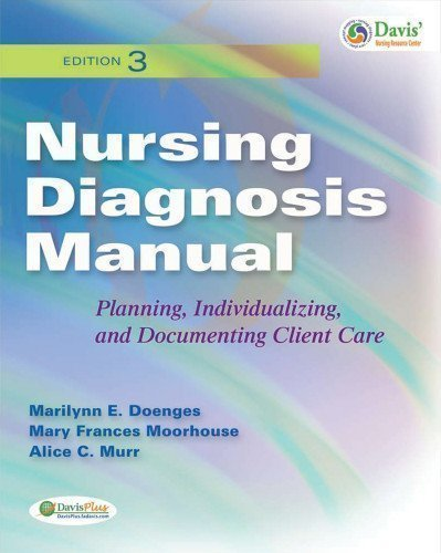 Nursing Diagnosis Manual: Planning, Individualizing, and Documenting Client Care 3rd (third) Edition by Doenges, Marilynn, Moorhouse, Mary, Murr, Alice published by F.A. Davis Company (2010) Paperback