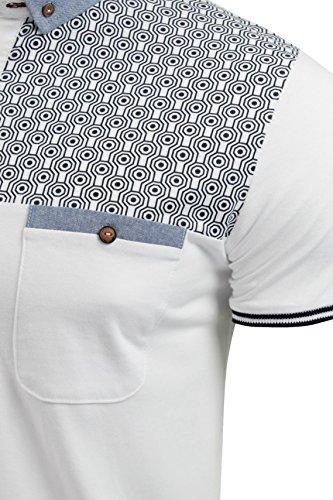 Brave Soul -  Polo  - Con bottoni  - Maniche corte  - Uomo Bianco