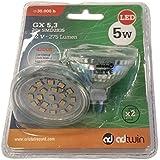 Adtwin 52+319-05-140 - Pack de 2 bombillas LED, MR16, 5 W, luz neutra, 4200° K
