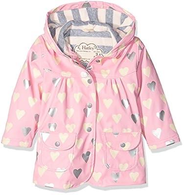 Hatley Girl's Metallic Hearts Raincoat