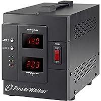 PowerWalker AVR 2000/SIV 2salidas AC 230V Negro - Regulador de voltaje (50/60, 2000 VA, 1600 W, 2 salidas AC, Tipo F, 110 - 270 V)