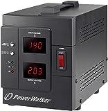 PowerWalker AVR 2000/SIV - Regulador de Voltaje (230 V, 50/60 Hz, 2000 VA, 1600 W, 2 Salidas AC, Tipo F)