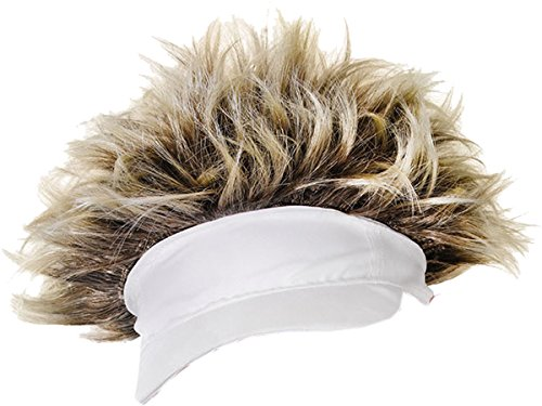 Bristol Novelty Adults Unisex Fancy Dress Party Clubwear Golfer Style Hat with Attached Hair UK