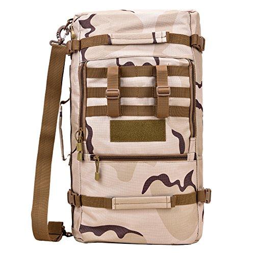 ZC&J Zaino multiuso multifunzione, borsa, pacchetto diagonale, 45 L di grande capacità, solido e durevole, impermeabile, strappo, zaino tattico di camuffamento,A9,45L A7