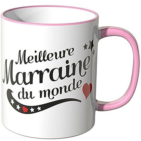 "Wandkings Tasse, message ""Meilleure Marraine du monde"" - ROSE"