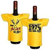 Jagd Jäger Hunter Mini Set 3 Kleine im Paket ::: Jäger - 1974 ::: Hemd für die Flasche zu Sylvester Neujahr
