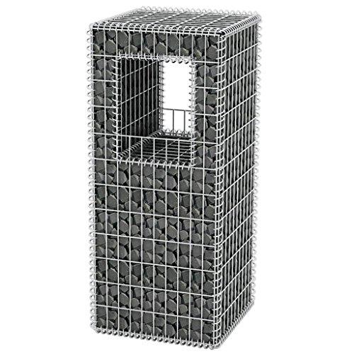 Festnight Gabionen Hochbeet aus Stahl 50x50x120 cm
