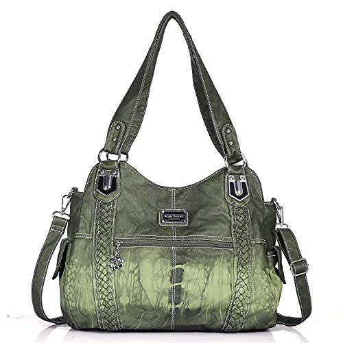 Angel Barcelo Geldbörsen und Handtaschen für Frauen Damen Umhängetasche Designer Tie Dye Satchel Fashion Totes für Mädchen (0044Z-Green)