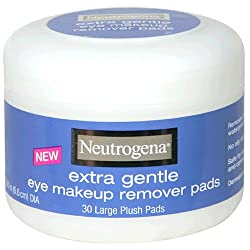 Neutrogena Eye Makeup Remover Pads, Extra Gentle, Large Plush Pads, 30 Count
