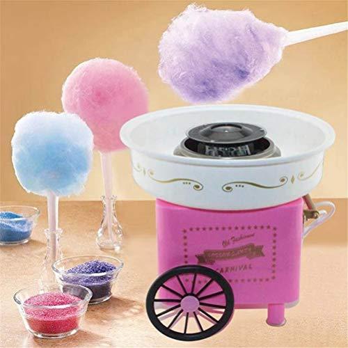 LEEEC Mini Süße Automatische Zuckerwatte-Maschine Haushalt DIY 500 Watt Zuckerwatte-Hersteller Zuckerwatte-Maschine Für Kinder 110-220 V,Pink (Zuckerwatte-maschinen Kinder Für)