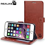 iPhone 7 Plus Cover, REALIKE {Imported} Premium Leather Wallet Flip Case For iPhone 7 Plus Cover (Royal Series - Brown)