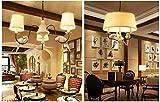 SZGD Kronleuchter, amerikanisches Landhausstil-Restaurant Kronleuchter/mediterraner Gartenstil-Wohnzimmer-Kronleuchter kreative Persönlichkeit Deckenleuchte,1#